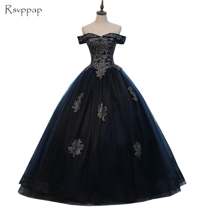 Long Evening Dress 2019 Sweetheart Cap Sleeve Applique Arabic Navy Blue African Women Formal Evening Gowns