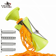 Replaceable Blades Spiral Slicer Fruit and Vegetable Spiralizer Carrot Cucumber Grater Cutters With 4 Kitchen Accessor