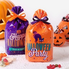 Halloween Pumpkin Cookie Bag Candy Small Gift Kids Trick-or-treat Bags No Rope