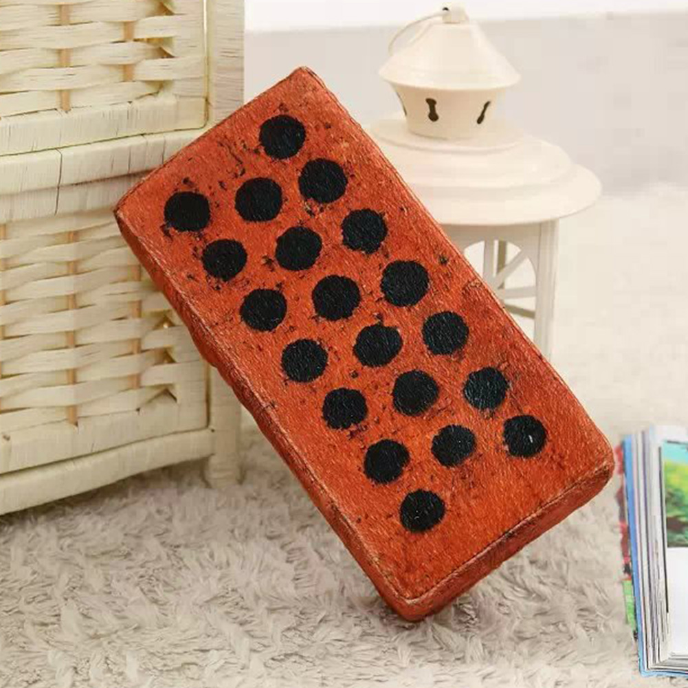 Neck Nap Pillow Props Funny Toy Simulation Travel Office Novelty Portable Red Brick Spoof Decorative Vent