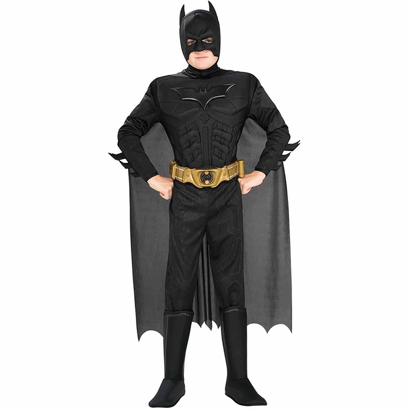 New Arrival Kids Deluxe Muscle Dark Knight Batman Barn Halloween Party Fancy Dress Boys Superhero Carnival Cosplay Kostym