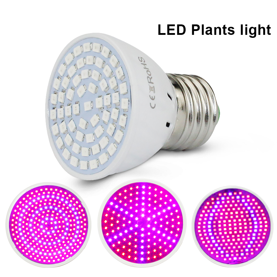 Full Spectrum  Led Grow Light 60 126 200 260 SMD2835 For Vegetation Plants Led Grow Indoor Plants E27 460nm 640nm