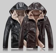 2019 Nuovi Uomini Del Cuoio Genuino Cappotto di pelle di pecora Con Cappuccio da uomo Giacca di pelle giacche invernali mens di Trasporto Libero di SME Più Il Formato m 5XL