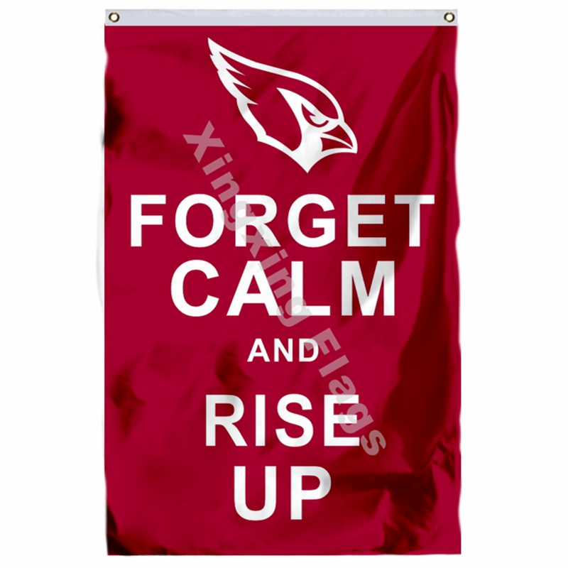 Arizona Cardinals Flag 3ft X 5ft Polyester NFL1 Forget Calm And Rise Up Banner Flying Size No.4 144* 96cm Custom Flag