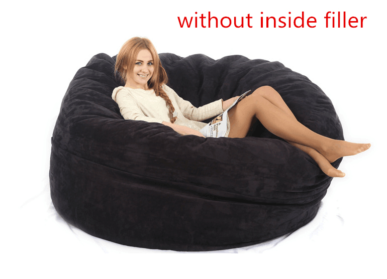 Aliexpress Buy Large Bean Bag Adult Chair COVER Not Included Fillings With High Quality MICRO SUEDE From Reliable