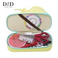 D & D Casa de Costura Kits de Múltiples funciones Caja de Zapatos-formas Artesanales de Tela con 108 Unids Surtidos Coser Bolsa de herramientas Accesorios de Costura