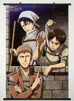 Wall Scroll Poster Fabric Printing For Anime Attack On Titan Jean Kirstein Eren Jaeger Levi Ackerman