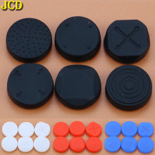 JCD 6pcs Silicone Joystick Grip Cap Analog  Joystick Protective Cover Case for Sony PlayStation Psvita PS Vita PSV 1000/2000 protective vinyl skin decal cover for ps vita psvita playstation vita portable sticker skins diamond plate