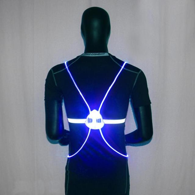 Multipurpose High Visibility Reflective LED Flash Bike Vest Adjustable  Running Cycling Vest Safety Outdoor Vest cf25db0dd