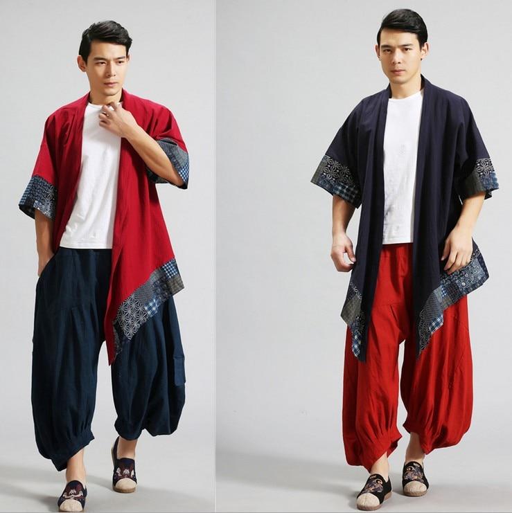 Весна китайский стиль хлопок лен - Мужская одежда