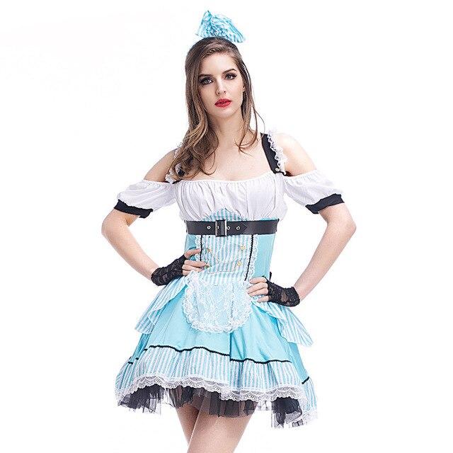 4425c5f0a6b Robe princesse Lolita Alice au pays des merveilles robe tablier tenue de  femme de chambre Costume