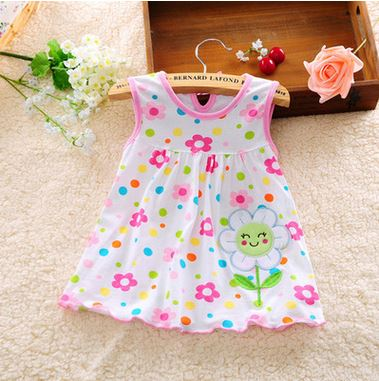 2017-other-new-baby-cute-girl-wearing-a-sleeveless-dress-to-wear-casual-clothing-cotton-100-conventional-micro-Princess-0-24-mo-4