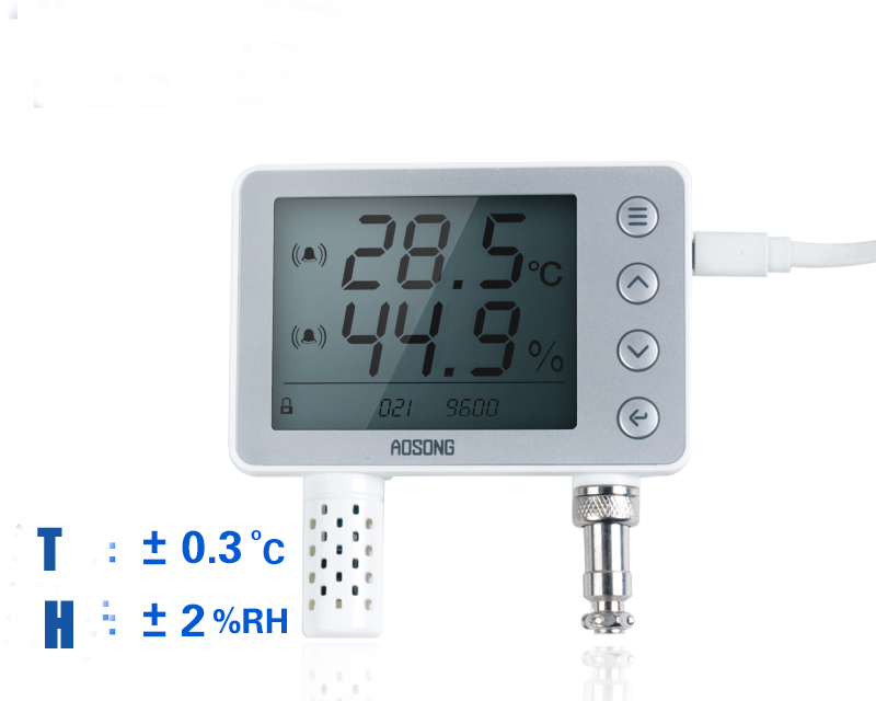 Free shipping AW1485A RS485 Digital Temperature and humidity transmitter rs485 temperature sensor 3.5inch LCD displayFree shipping AW1485A RS485 Digital Temperature and humidity transmitter rs485 temperature sensor 3.5inch LCD display