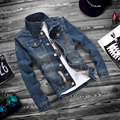 XS-5XL 2016 fashion male slim fit leisure cotton denim jacket/High-grade fashion leisure male jean jacket/Large size jackets