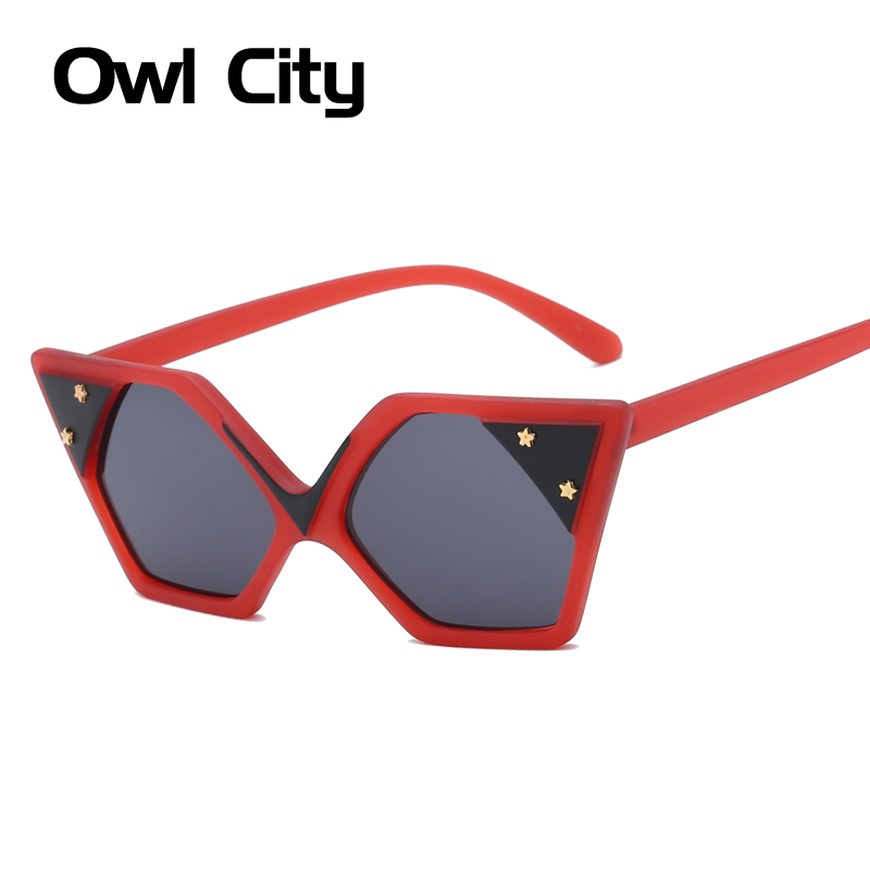Owl City Cat Eye Women Sunglasses Brand Designer Square Vintage Female Eyewear Retro Sunglass UV400 Punk Cateye Sun Glasses