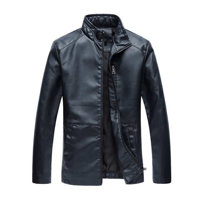 winter Autumn Brand PU Leather Jacket Men leather coat  jackets Bomber Leather biker Jacket Motorcycle Jacket