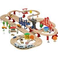 Tam Set Ahşap Tren Parça Thomas ve Arkadaşları Için Lüks Tomas Parça Demiryolu Oyuncak bloques de