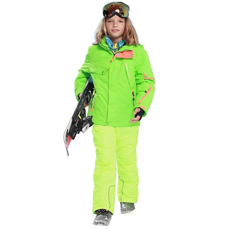 d4825b7ce77f Dropwow kids clothes winter ski suit windproof 5000ski jackets+pant ...