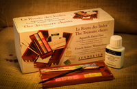 Sennelier High Level Artist Pigment 20 Color Watercolor Paint Palette Ceramic Solid Wooden Box Set