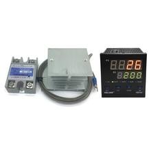 100V-240V latest digital pid temperature controller 220V Max temperature 1372 °C+2M k thermocouple+Max 40A ssr+good radiator