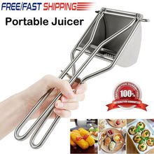 Manual Juicers 2019 NEW Portable Press Juicer Vegetable Fruit Stainless Steel Processor Mixer