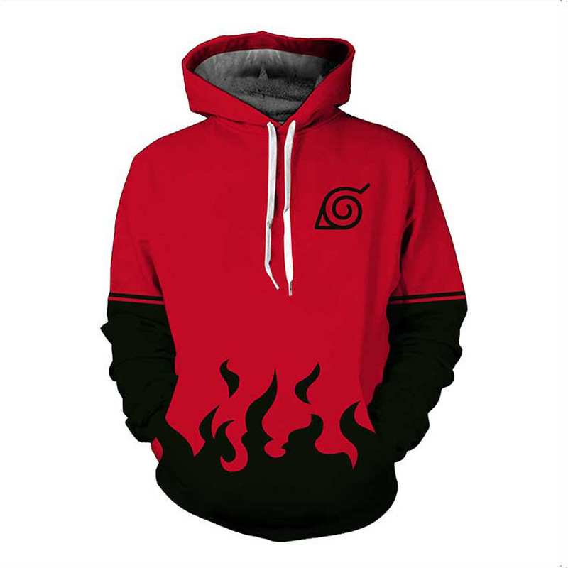 Naruto Hoodie Coat Sweatshirts HOKAGE 3D Hoodies Pullovers Men Women Long Sleeve Outerwear Hip Hop Hoodie