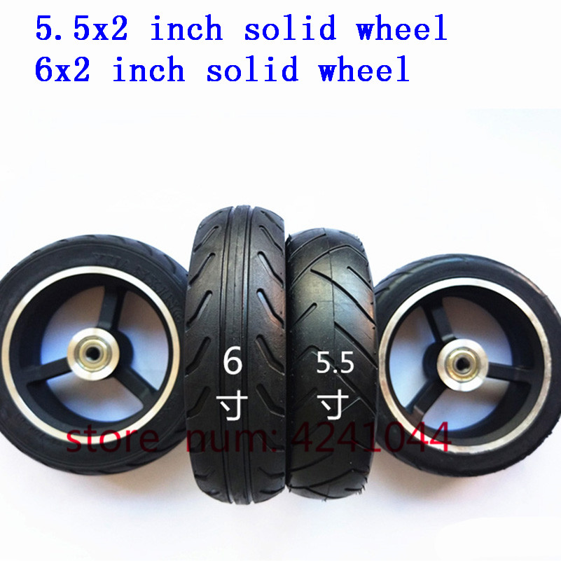 5/5.5 /6 Inch Solid Wheels 5'' 5.5x2 145x40 6x2 Solid Tyre Tire And Alloy Rim For Fast Wheel F0,jackhot,Nes Carbon Fiber Scooter