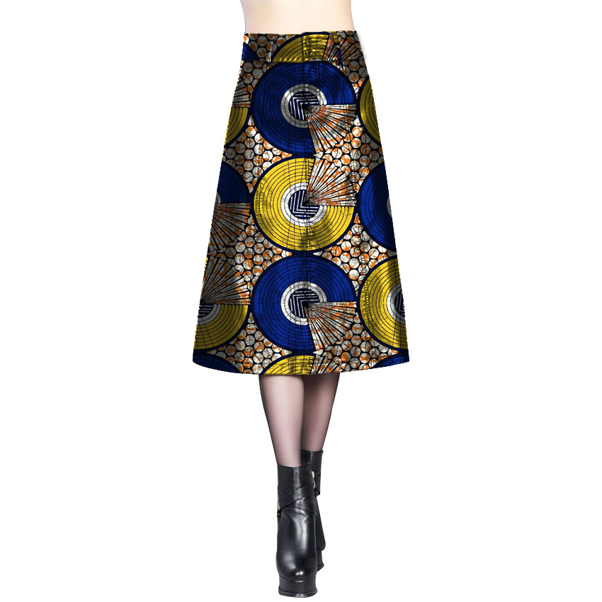 Women fashion brightly colored africa print element ladies dashiki beautiful design skirts custom african clothes