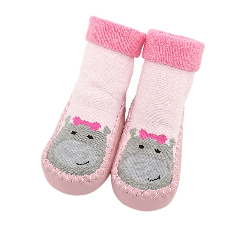 Baby Socks With Rubber Soles  Indoor Floor Shoes Toddler Newborn Anti Slip Baby Socks Learning To Walk Infant Socks Cotton