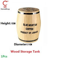 1Pcs Wood Storage Tank Cylinder Food Box Tea Coffee Sugar Cover Kitchen UtensilsHousehold Supar-quality Height15CM Diameter11CM