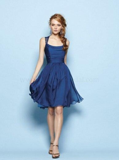 Navy Blue Short Lace Bridesmaid Dresses Promotion-Shop for ...