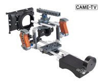 BMCC Cage with Follow Focus Matte Box Shoulder Support Side Handle Extension Arm