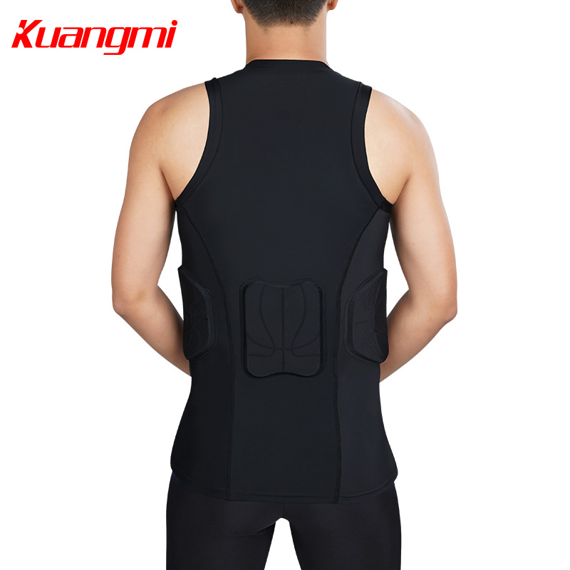 Kuangmi Men Gym Clothing Fitness Sportswear Compression Tights Suits Running Sport Tight Jogging T shirt and Pants Set Clothes - 6