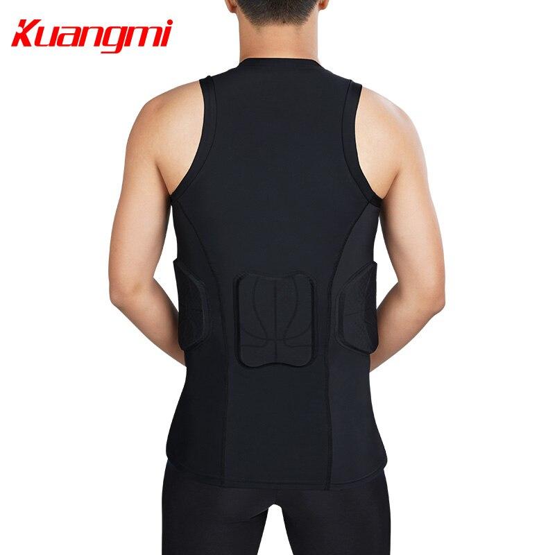 Kuangmi Uomini Palestra Abbigliamento Sportivo di Fitness di Compressione di Calzamaglie Abiti Corsa e Jogging Sport Da Jogging T Shirt e Pantaloni Set Vestiti - 6