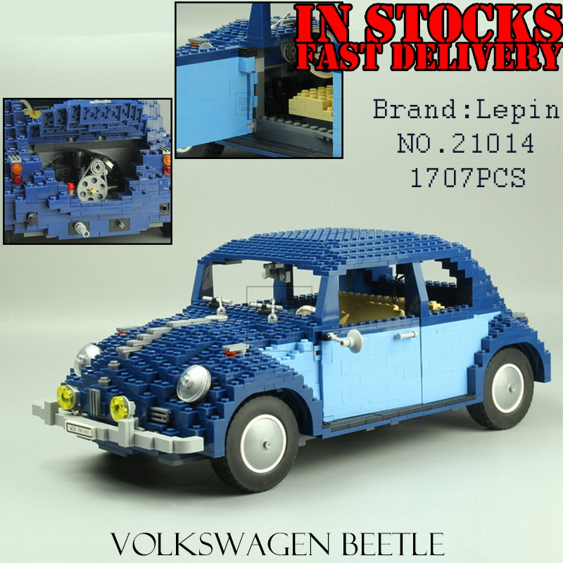 Lepin 21014 1707Pcs Technic Classic Series The Ultimate Beetle Set  car-styling Building Blocks Bricks Toys for children gifts lepin 21003 series city car beetle model building blocks blue technic children lepins toys gift clone 10252