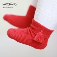 Kacakid 10 Pair/set Socks Kids Warm 4 Colors Children Kids Baby Girls Ruffle Socks Cotton Anti Slip For Girls Socks