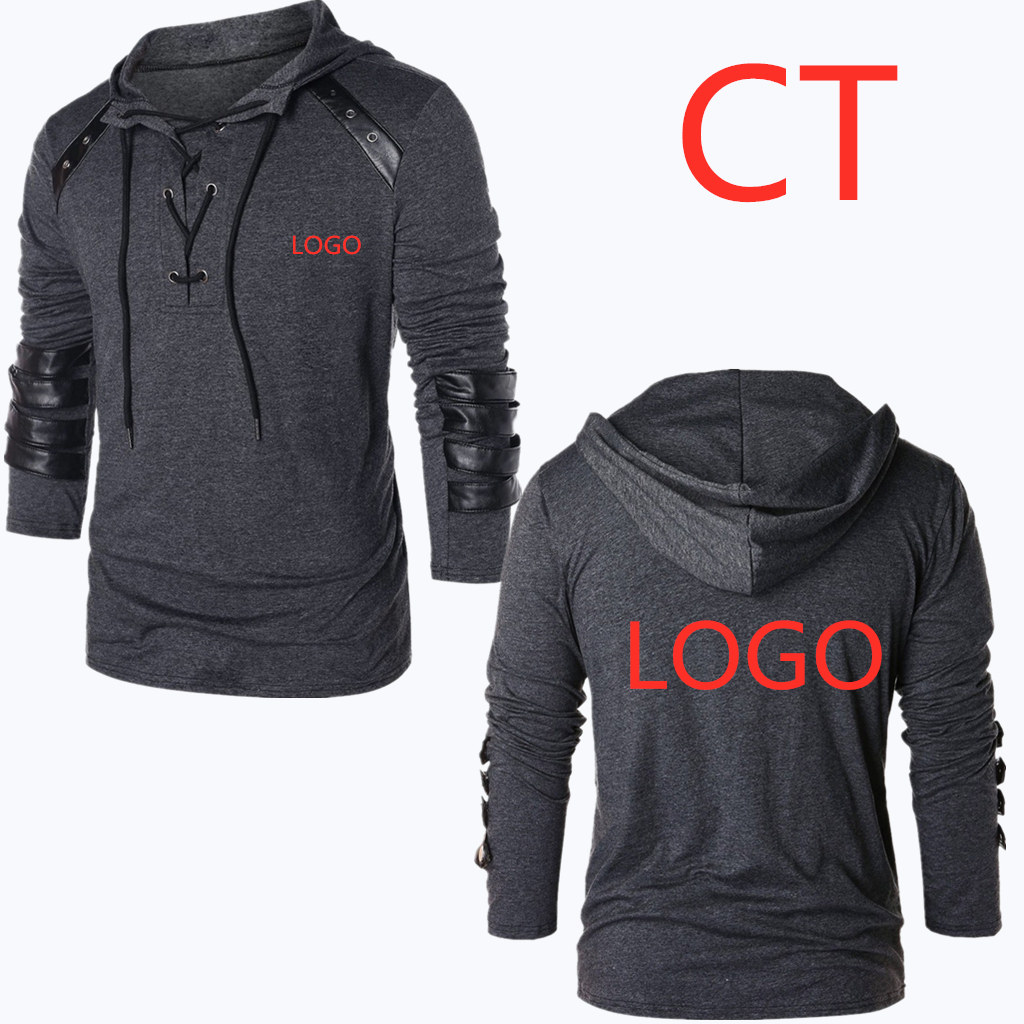 CT New Print Letter Sweatshirts For Men's Full Autumn Casual Man MC Hoodies Tracksuits Man Pullovers Harajuku Fold Leisure Coats(China)