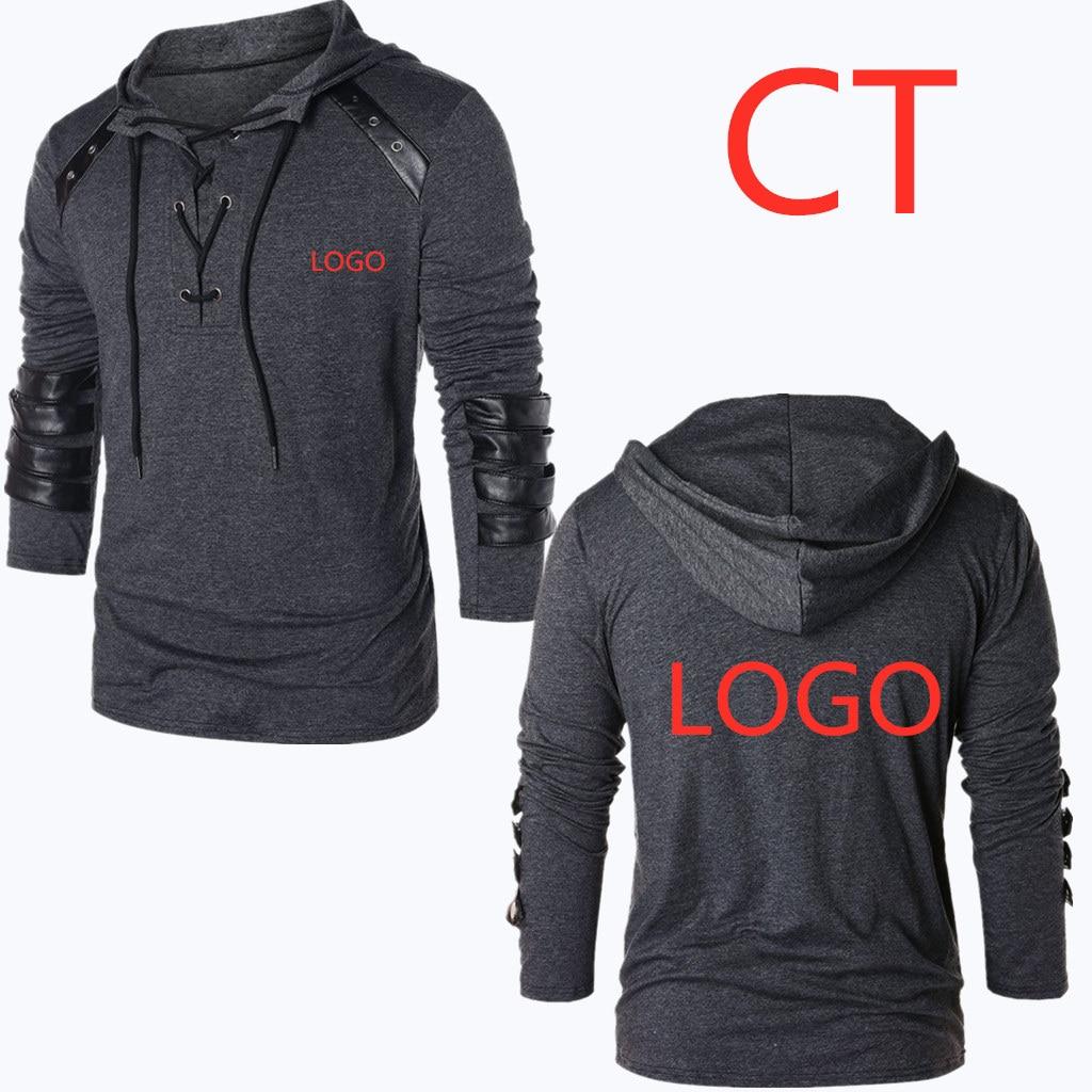 CT New Print Letter Sweatshirts For Men's Full Autumn Casual Man MC Hoodies Tracksuits Man Pullovers Harajuku Fold Leisure Coats(China)