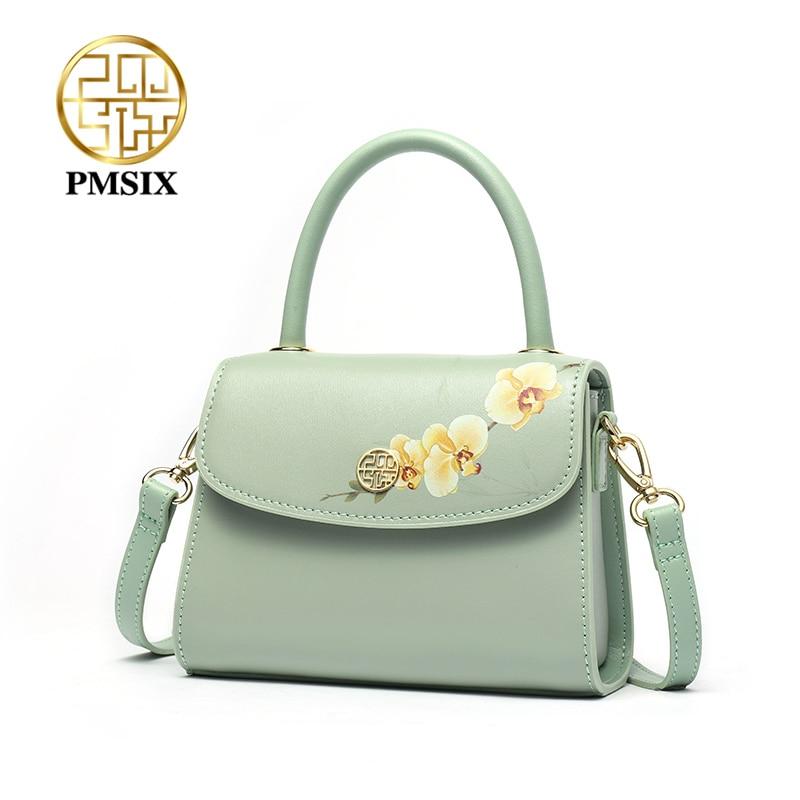PMSIX Fashion Bloemen Printing kleine vrouwen Handtas Dames Crossbody tassen met Lange Schouderbanden Casual Pochette