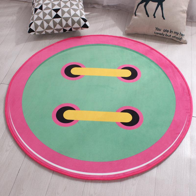 37d592ddf08 Black Round Carpet Polyester Non-slip Kids Rugs Floor Tapete Computer Round  Rugs For Home Diameters 60 80 100 120cm Mat - us578