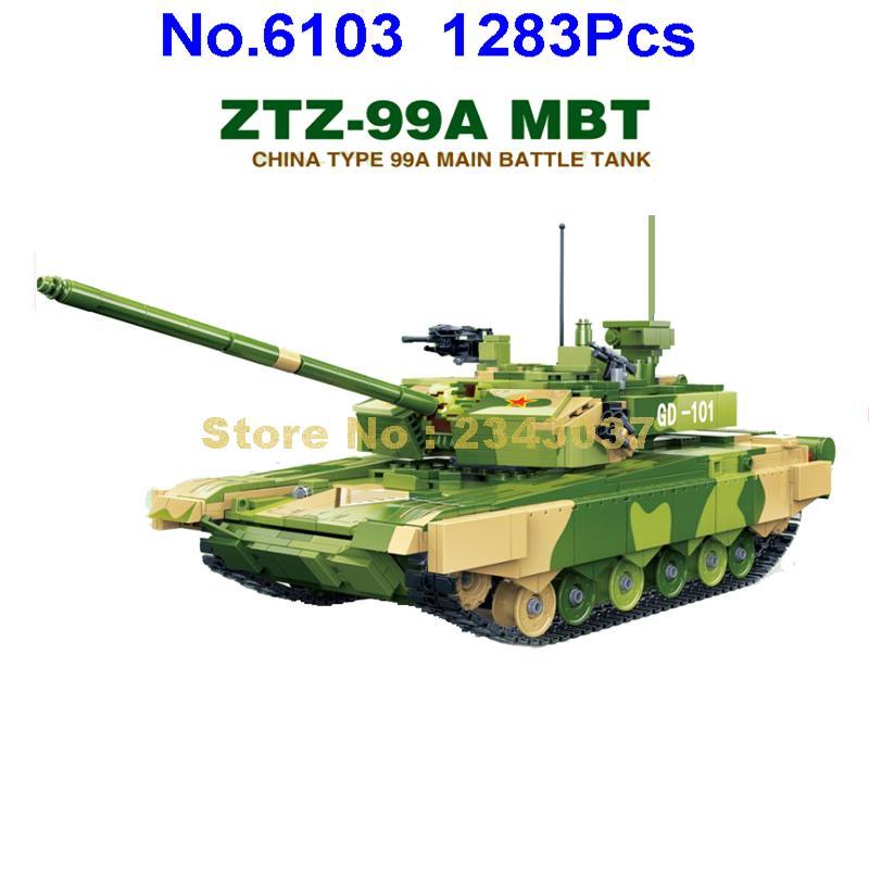 gudi 6103 1283pcs military ztz 99a mbt battle tank ww2 soldiers army war building blocks Toy-in Blocks from Toys & Hobbies    1