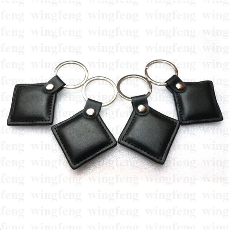 Genuine Leather Contactless Proximity125khz RFID Proximity ID Token Keyfob Keychains for Access Control System turck proximity switch bi2 g12sk an6x