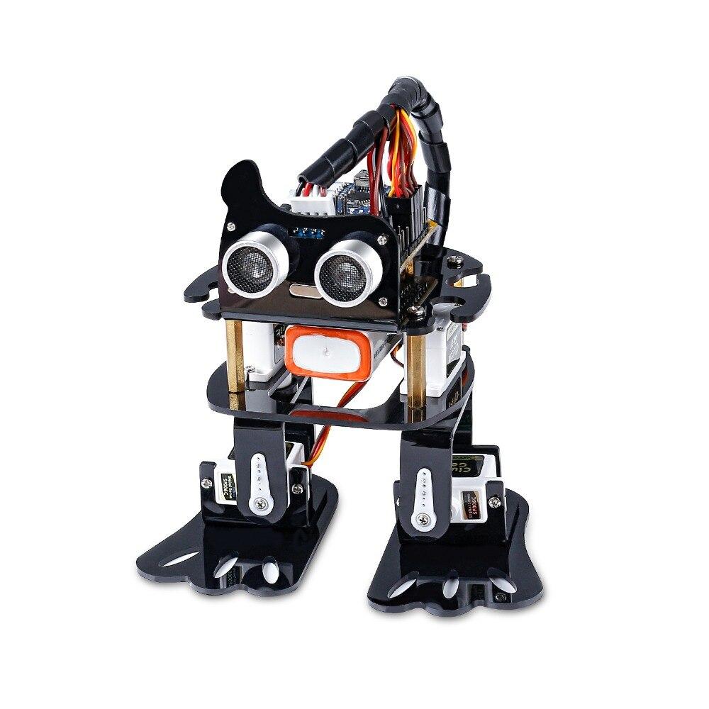Kit Robot bricolage 4-dof sunfondateur-Kit d'apprentissage pour paresseux Kit Robot dansant Programmable pour jouet électronique Arduino Nano