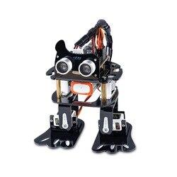 SunFounder DIY 4-DOF Robot Kit-Luiaard Learning Kit Programmeerbare Dansende Robot Kit Voor Arduino Nano Elektronische Speelgoed
