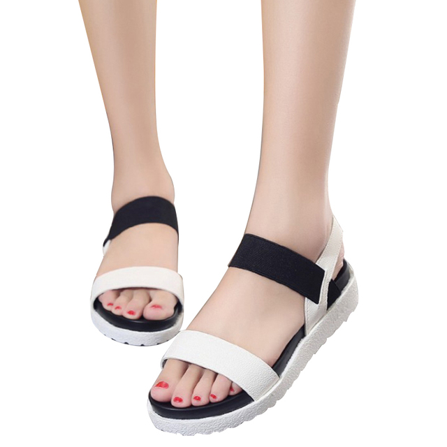 Summer shoes woman Hot Selling sandals women 2016 peep-toe flat Shoes Roman sandals Women sandals sandalias mujer sandalias X278