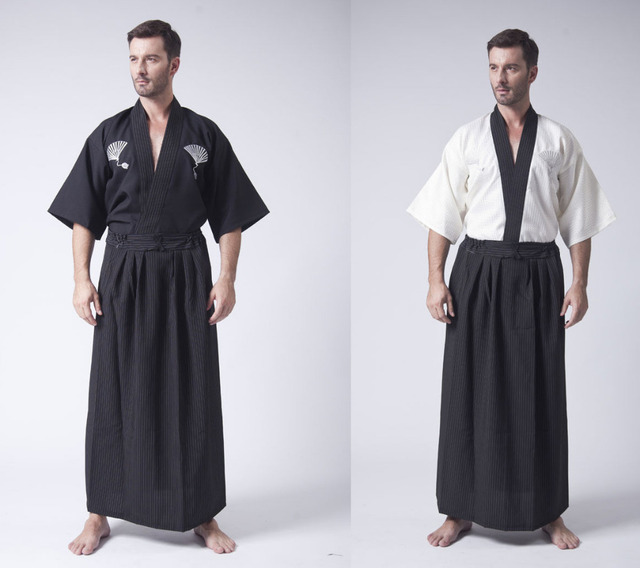 46b4e3492 Hot Sale Japanese Men's Warrior Kimono Yukata Haori Robe One Size-in ...