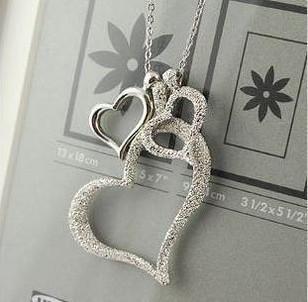 Heart Necklaces & Pendants Silver Plated Jewellery & Jewerly 2016 Necklace Women Fashion Pendants & Necklaces Wholesale