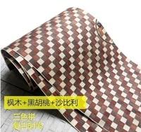 2 5Meter Pcs Width 40cm Three Color Spliced Wood Veneer Skin