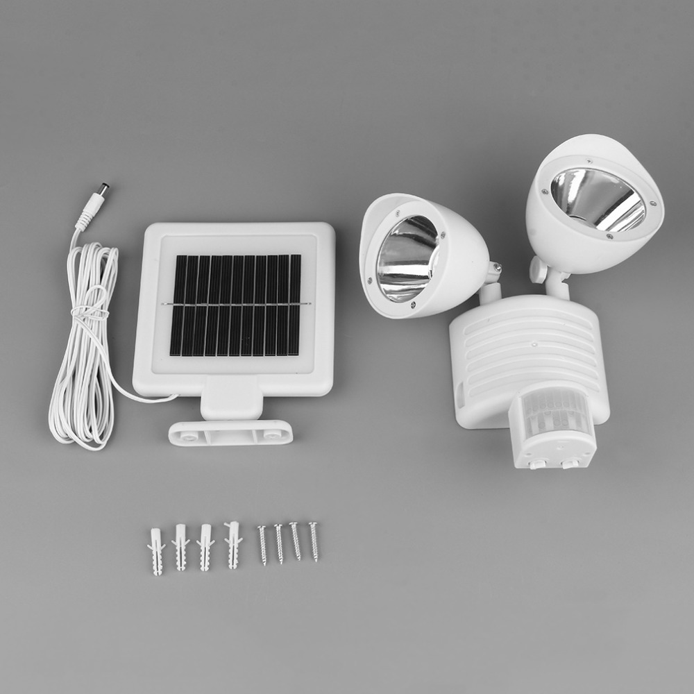 high quality generation white solar powered energy motion sensor light 22 led garage security lamp outdoor