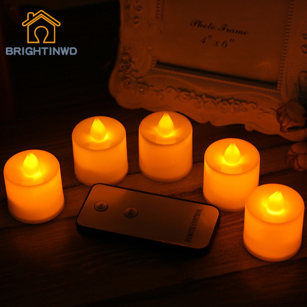 Automatic night lights decorative - 2017 New Led Candle Flame Lamp Electric Plastic Table Lighting Decoration Wedding Luminaria Candle Remote Control